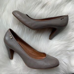 Naked Feet Classic Distressed Leather Pumps Heel